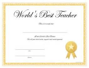 World s best teacher certificate free printable allfreeprintable