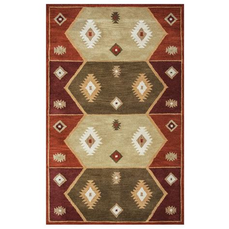 2 x 3 accent rugs rizzy home southwest multicolor 2 ft x 3 ft accent rug sowsu193700340203 the home depot