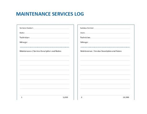 sample repair log template 9 free documents in pdf excel
