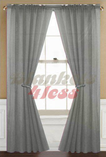 washing sheer curtains gray grey solid 1 sheer window curtain panel by awad 7
