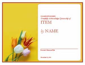 Certificate Of Appreciation For Sponsorship Template Certificate Of Appreciation To Sponsor Free Certificate
