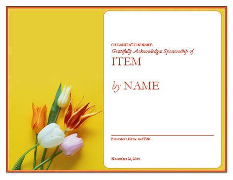 certificate of appreciation to sponsor free certificate