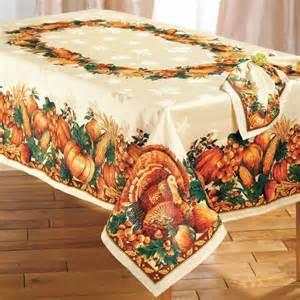 thanksgiving turkey harvest tablecloth table