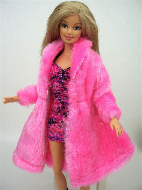 design dress toy new design 2016 pink rose blue white plush coat winter