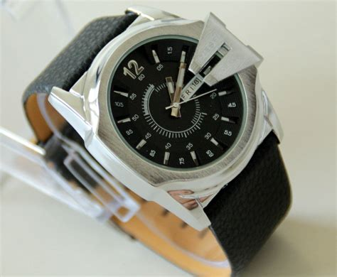 Jam Tangan Pria Silver Date Semi d sel watch leather for