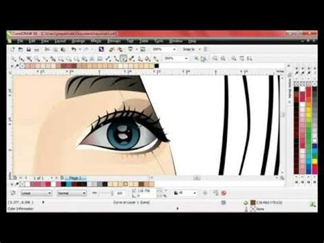 tutorial vector corel draw menggambar wajah jadi kartun full download tutorial vector corel draw menggambar