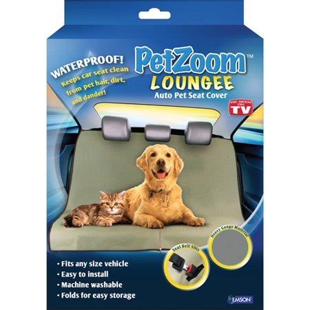 tv petzoom loungee auto pet seat cover