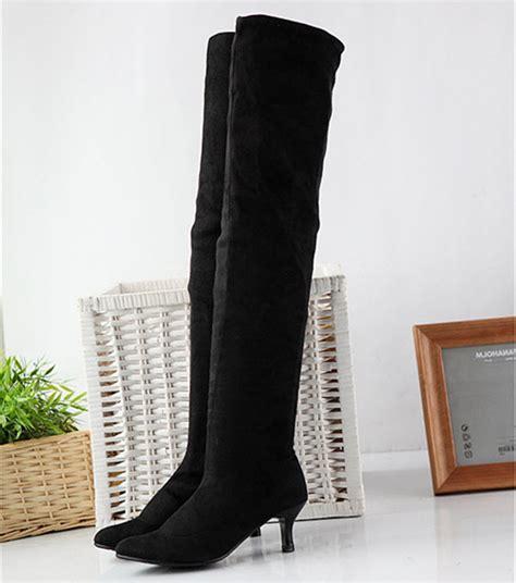 popular thigh high boots stretch buy cheap thigh high