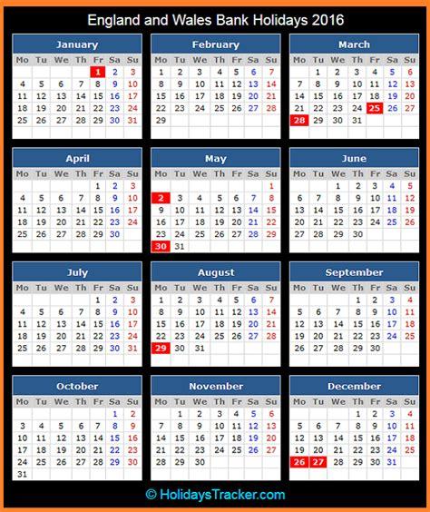 printable calendar 2016 england england and wales bank uk holidays 2016 holidays tracker