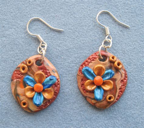 Handmade Earrings Designs Unique - earrings in stylish design unique handmade fimo ooak