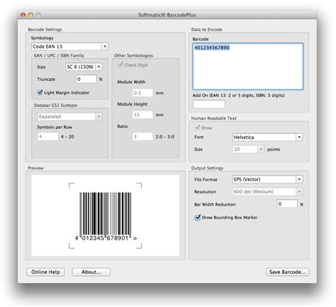 Software Barcode For Mac mac barcode software barcode generators excel barcode fonts softmatic