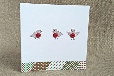 Handmade Cards With Buttons - 5 craft projects handmade button cards