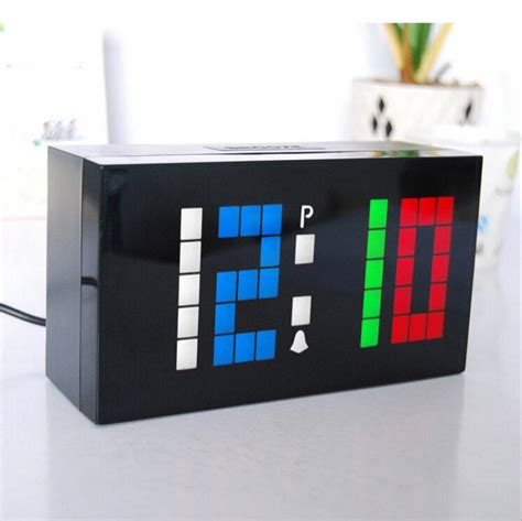 novelty colorful color custom personalized led electronic alarm digital clock diy wall clock and