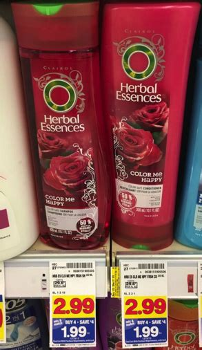 herbal essences products only 0 49 at kroger with new herbal essences shoo and conditioner only 0 99 during