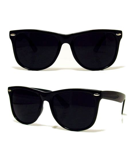 Blind Dark Glasses New Retro Black Aviator Sunglasses Dark Shades Rave 80s