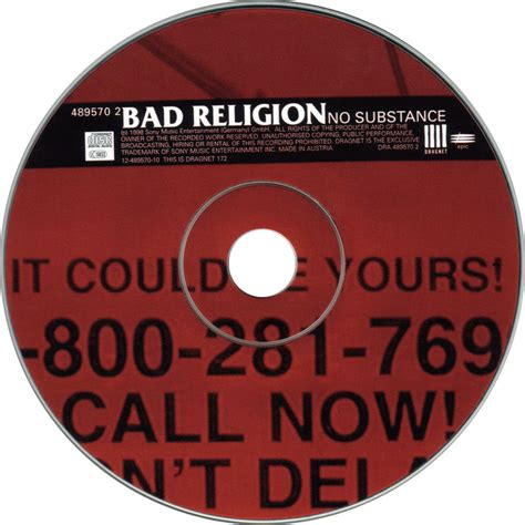 Cd Bad Religion No Subtance car 225 tula cd de bad religion no substance portada