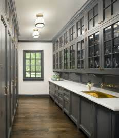 Grey Kitchen Pantry Butler S Pantry Cabinets Transitional Kitchen Munger