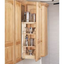 rev a shelf kitchen upper cabinet pull out organizer rev a shelf 3 tier pull out base organizer 5 quot wood 448 bc