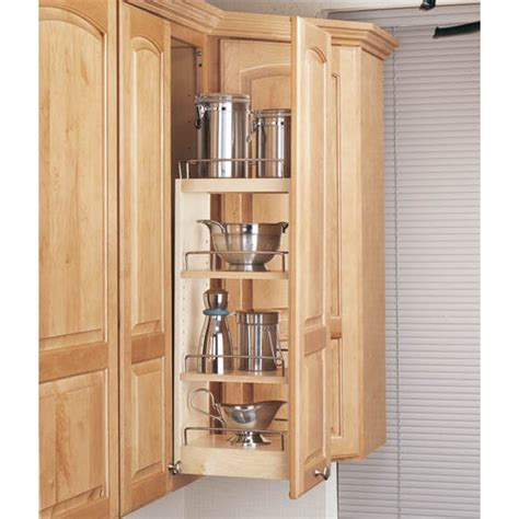 kitchen pull out cabinets rev a shelf kitchen upper cabinet pull out organizer