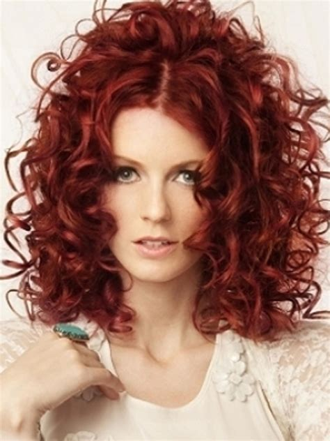 red hair color red hair color idea of medium curls hair as women style