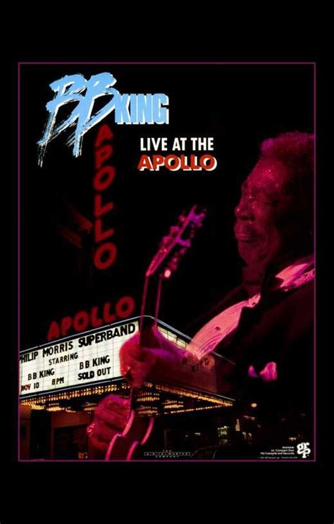 Bb King Kanvas Wpap b b king live at the apollo posters from