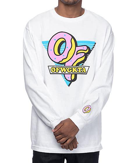 Longsleeve Sane O Donuts future of triangle white sleeve t shirt