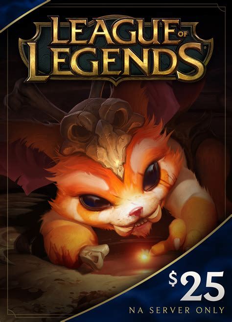 Gift Card Games - league of legends 25 gift card 3500 riot points na server only online game