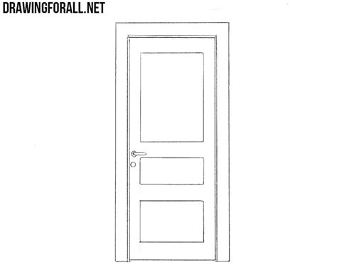 how to a to a door how to draw a door drawingforall net