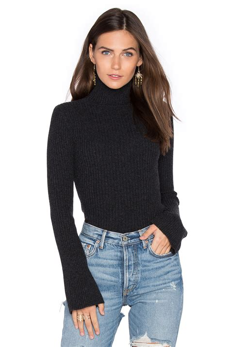 Sweater X lyst autumn x revolve ribbed turtleneck bell sleeved sweater