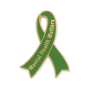 mental health awareness color mental health matters awareness ribbon pin