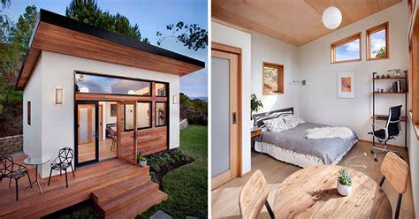 backyard guest house this small backyard guest house is big on ideas for compact living contemporist