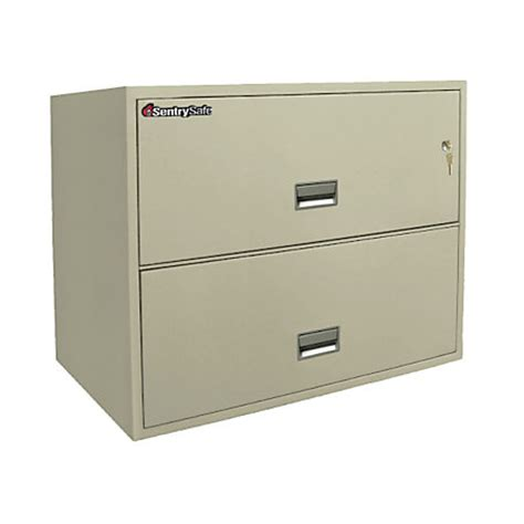 Letter Size Lateral File Cabinet Sentry Safe Resistant Letter Size Lateral File Cabinet 2 Drawer 27 58 H X 35 1316 W X