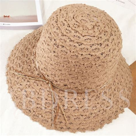 Foldable Straw Hat wide brim foldable summer straw hat tbdress