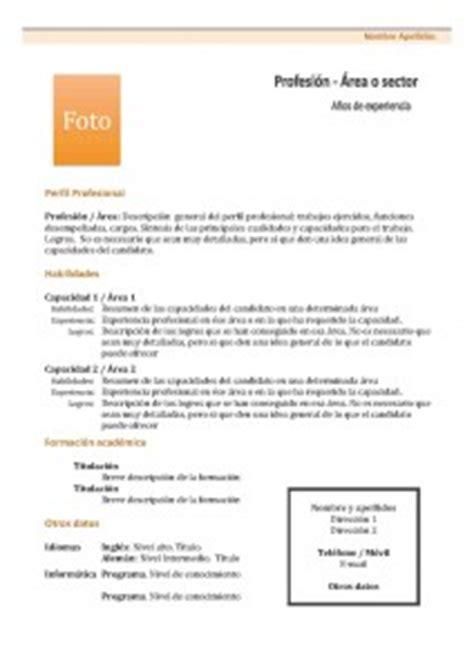 Plantillas De Curriculum Vitae Usados En Chile Plantillas De Curr 237 Culum Vitae Hacer Curriculum
