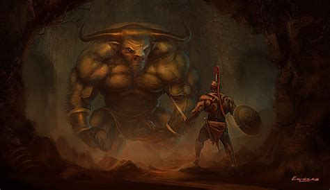 the labyrinth mythical beasts minotaur the symbol of power