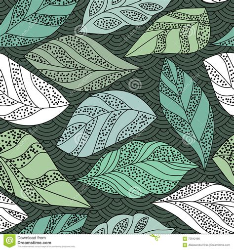 contour wallpaper abstract leaves contour seamless background with leafs vector illustration