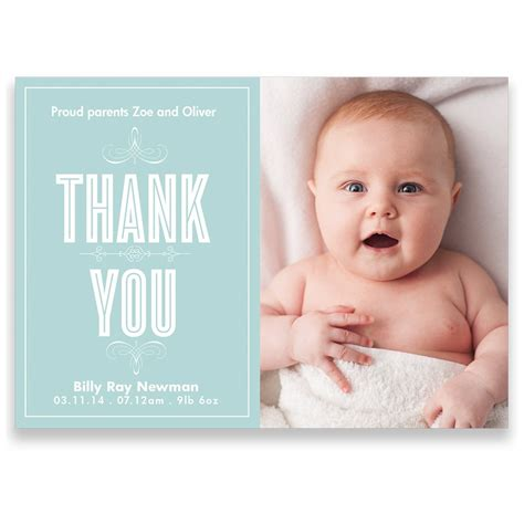 baby thank you cards with photo template small description baby thank you cards bottom side model