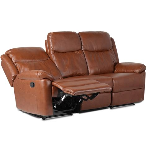 3 Seater Brown Leather Recliner Sofa Leather Recliner Sofa 3 Seater Reya Brown Price 429 49 Eur Pu Leather Recliner Sofas