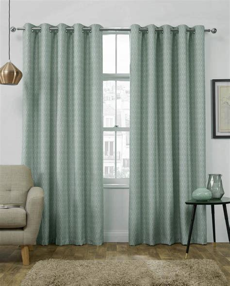interlined drapes luton duck egg eyelet top curtains themal interlined net