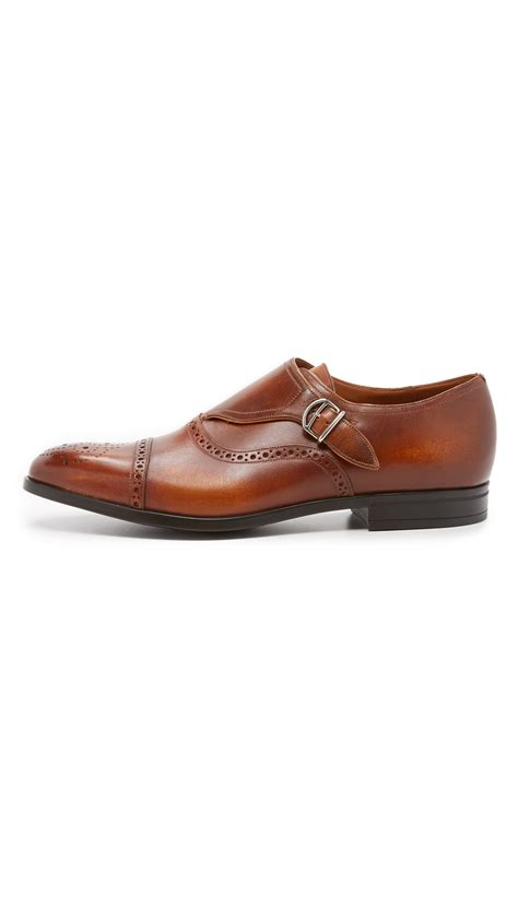 mens bally sneakers bally lanor monkstrap shoes in brown for lyst