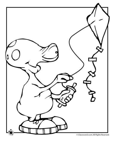 Pics For Gt Flying Kite Coloring Page Coloring Pages Kite Flying