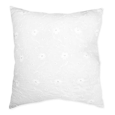 white throw pillows for bed sweet jojo designs eyelet decorative throw pillow in white