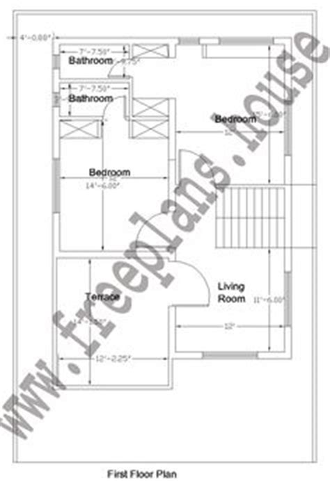 32 Square Meters To Feet 32 215 50 feet 148 square meters house plan plans