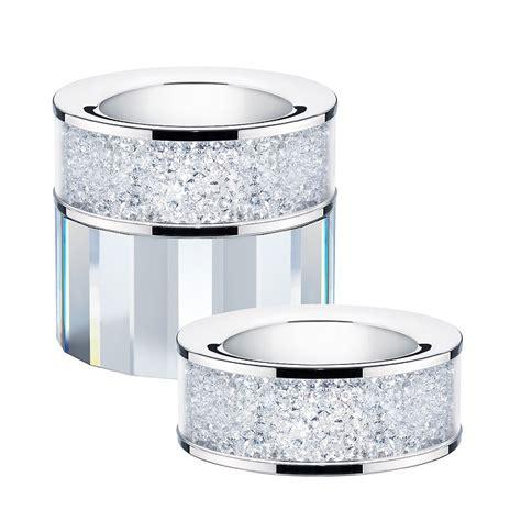tea light holder set of 2 swarovski crystal filled tea light candle holders