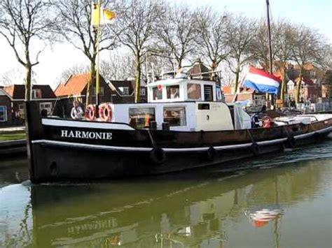 sleepboot harmonie harmonie komt de museumhaven ingevaren youtube