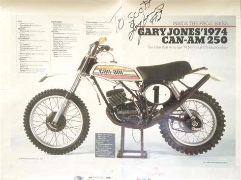 can am motocross bikes 1974 gary jones can am vintage motocross bikes