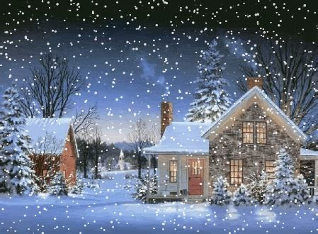 animated snow falling scene yahoo search results