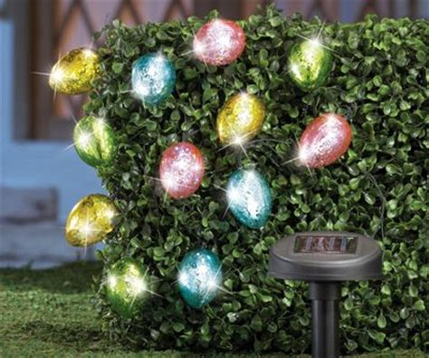 solar easter egg string lights easter decorations
