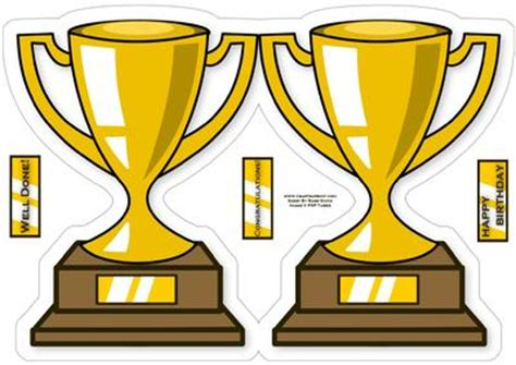 Trophy Card Template by Trophy Shaped Card Cup125759 37 Craftsuprint