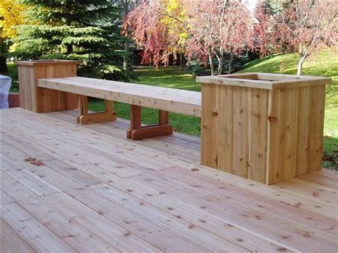 deck benches and planters wood deck seating master of the house pinterest